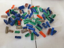 Large Lot of Assorted Vintage Plastic Cars Trucks and Trolleys