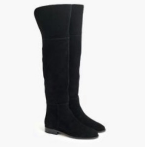 J.Crew Women's Over the Knee Boots in Black Suede Size 9 K2741