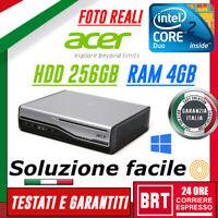 PC FISSO COMPUTER ACER VERITON L460 PENTIUM RAM 4GB HDD 256GB+WIN10 PRO! IN 24H!