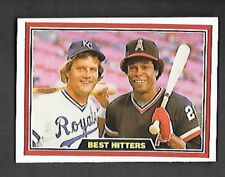 GEORGE BRETT & ROD CAREW 1981 DONRUSS #537 KANSAS CITY ROYALS & MINNESOTA TWINS
