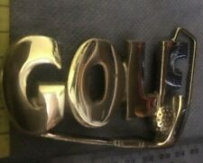 'Golf' Brass Belt Buckle