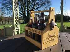 Personalised Beer Ale Caddy Carrier Fathers Day Birthday Camping Wedding Gift