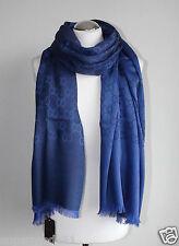 GUCCI  Damen Luxus Schal  Wolle Seide 70 x 200  Neu 165903 3G646 4269 blau