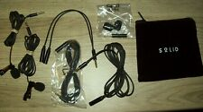 Lavalier Lapel Microphone 2-Pack Complete Set - Omnidirectional Mic NIP