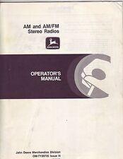 John Deere AM/FM Stereo Radios Manual
