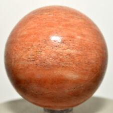 "2.1"" Orange Jade Sphere Sparkling Natural Crystal Jadeite Mineral Stone - India"