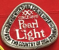 Pearl Light beer advertising patch 2-1/2 X 2-7/8 #8212