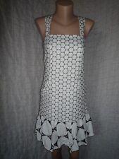 Diane von Furstenberg Corrigan embroidered linen sleeveless dress size 2, S