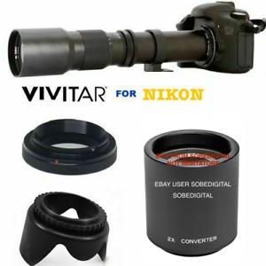 HD LUNAR and ASTRONOMICAL  500mm-1000mm F8 Preset Telephoto Lens For Nikon DSLR