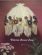 Victorian Parasol Floral Lamp Pattern Macrame Splendor No. 3 Craft Book MS3 RARE