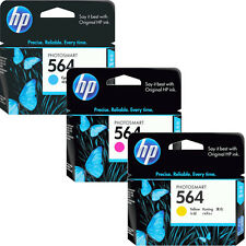 3 Pk Genuine 2016 HP 564 Color Ink Cartridges In RETAIL BOX For 7525 7520 7515