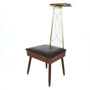 Vintage Gentleman's Butler Valet Dressing Chair Mid Century Modern