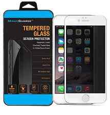 """Privacy (White Frame) Anti-Spy Tempered Glass Screen Protector for 4.7"""" iPhone 6"""