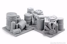 Storehouse garbage barricades - 40k, terrain decor, SpaceHulk, wargame terrain