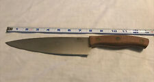 "Chicago Cutlery Chef's Knife Beautiful Condition 8"" Blade Brass Rivots"