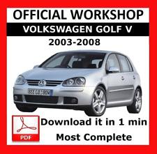 >> officiel Workshop Manual Service Réparation VOLKSWAGEN GOLF V 2003 - 2008