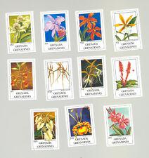 Grenada Grenadines #1256//1269 Orchids 11v Imperf Proofs