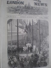 Prince Arthur lays foundation of new Exchange Leeds 1872 old print my ref S