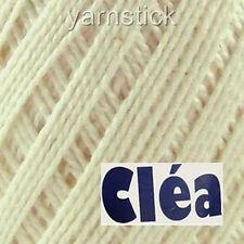 1000m CLEA1000_8176 ECRU #10 155g Crochet Cotton Soft Knitting Thread Yarn