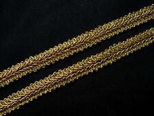 """GB59 3/8"""" Metallic Gold Trim Gimp Braid Lace Edging Upholstery Craft 10yards"""
