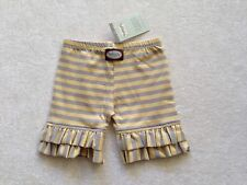 Persnickety Summer 2012 YELLOW GRAY Stripe Ruffle Shorts Size 5 NWT NEW