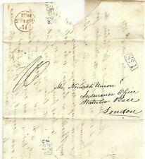 "1831  WINCANTON 5"" Cl: POST ON J G BORD INSURANCE LETTER EX BRUTON TO N U LONDON"