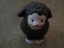 Fisher Price Little People Farm Manger Nativity Shepherd Sheep Black Barn set