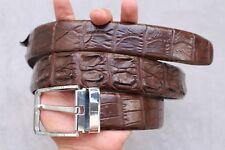 Dark Brown Genuine Alligator, CROCODILE Leather Skin Men's Belt #LT0117