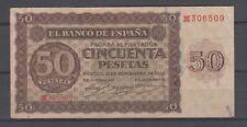 EDIFIL D420a.  50 PTAS 21 DE NOVIEMBRE DE 1936 SERIE M