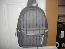 New With Tag DKNY Vertical Linear Coated Logo Grey Medium Backpack.100%Authentic