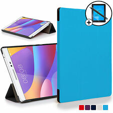 Blue Smart Case Cover Huawei Honor Pad 2 / MediaPad T2 8.0 Pro Scrn Prot Stylus