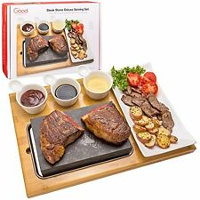 Cooking Stone- Lava Hot Steak Plate And Cold Rock Hibachi Grilling W Ceramic