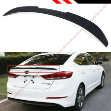 For 2017-2018 Hyundai Elantra Primer Matt Black H Style Trunk Lid Spoiler Wing