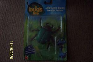 Vintage 1998 Mattel Disney A Bugs Life - Life-Like Crawlin' Critters Figures NIP