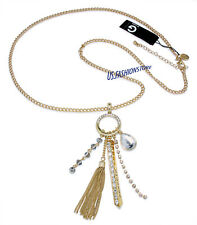 G BY GUESS Kette Necklace Halskette Anhänger Gold Strass Beauty ca.70 cm