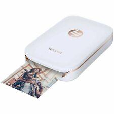 HP Sprocket Mobile Instant Photo Printer White Z3Z91A + 10 Sheets of Zink Film