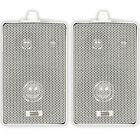 Acoustic Audio AA251W Indoor Outdoor 3 Way Speakers White Mountable Pair