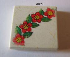 Lego Scala 3068bpx92 Tile 2x2 with Flower Wreath Quarter du 312 311 ou MOC