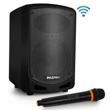 Pyle Compact & Portable Bluetooth PA Speaker - Karaoke + Wireless Microphone