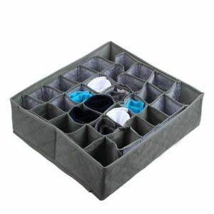 Bamboo Charcoal Underwear Ties Sock Closet Storage Drawer Organizer Box 30 Cells