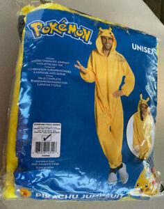 Ruby Adult Pokemon Pikachu Costume Jumpsuit Yellow Unisex Dress 14-16 Men 36-40