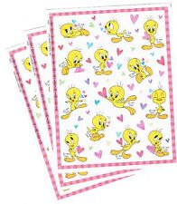 3 Sheets TWEETY Bird Looney Tunes Scrapbook Stickers! 2002 Love Hearts
