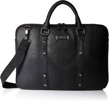 "Kenneth Cole Reaction Faux Leather Slim Laptop Dual Compartment Bag Top Zip 16"""