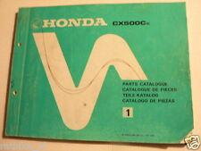 HONDA CX500CC CX 500 CC PARTS CATALOGUE NO 1 1981