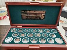More details for ancient silk road civilisations 20 coin bronze collection deluxe cased,boxed,coa