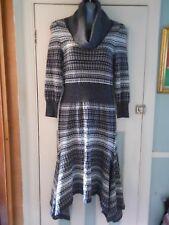 NWT fine knit merino wool striped stretch jumper dress UK 3 Karen Millen KH079