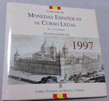 España 1997. Coleccion OFICIAL de Monedas de PESETAS de Curso Legal de la FNMT.