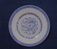Asian Style Plate Blue Dragon Made in China Salad Plate 8 Inch