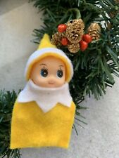 Baby Elf Doll In Yellow Elf On The Search For A Family