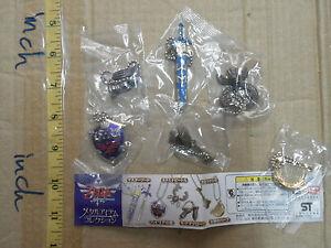 The Legend of Zelda Skyward Sword weapon metal figure gashapon strap 6 pcs yujin